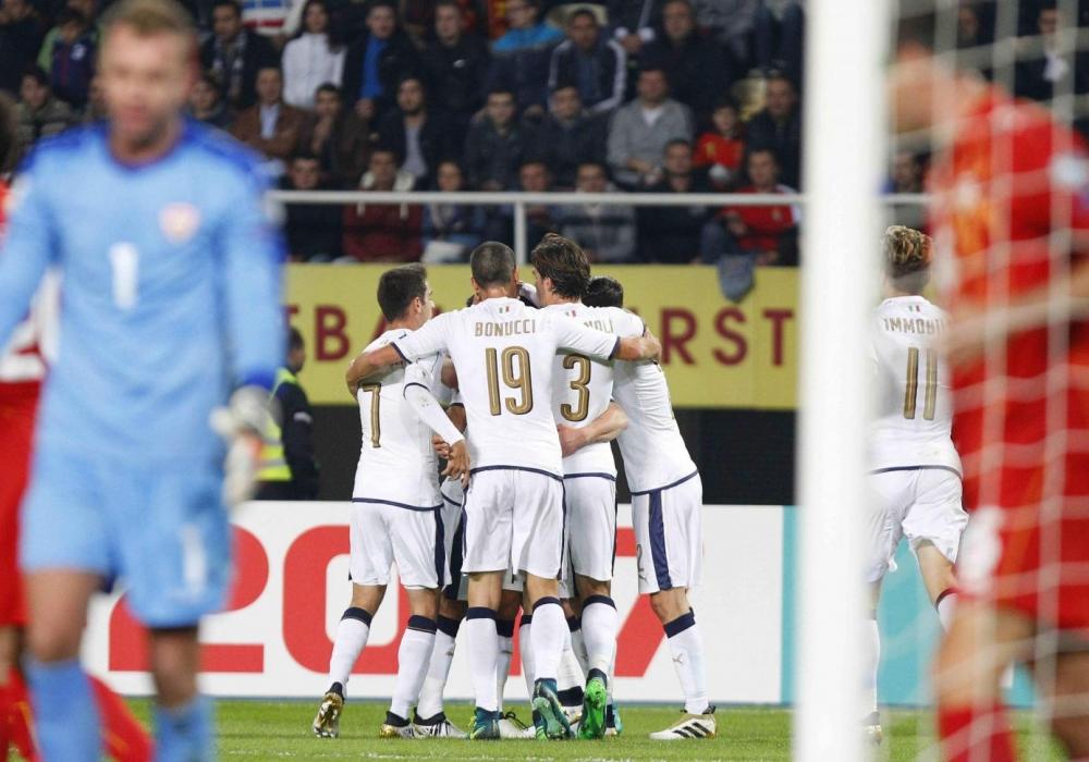 Qualificazioni Russia 2018: Macedonia-Italia 2-3, Immobile salva Ventura