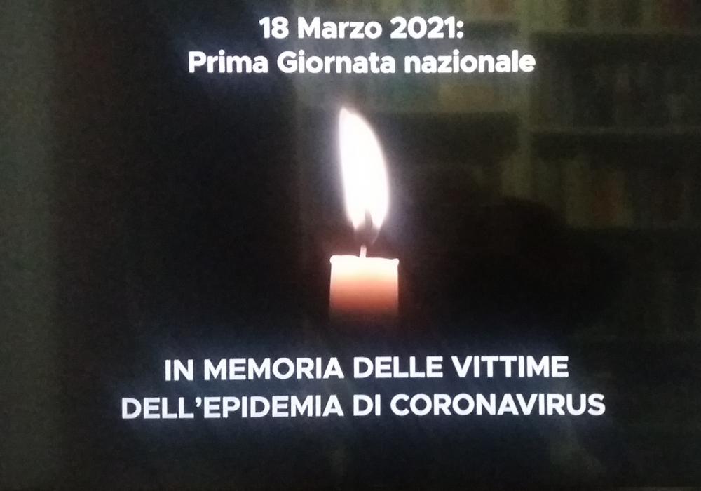 Il 18 marzo Giornata nazionale in memoria delle vittime del Covid. Minuto di silenzio in ogni luogo pubblico e privato